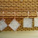 fülbevaló , Ékszer, Fülbevaló,   fülbevaló 12 x 12  mm-s gyanta  cabochonnal lehet választani  ezüst és rosa gold alap közzü..., Meska