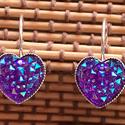 fülbevaló , Ékszer, Fülbevaló, Ékszerkészítés,   fülbevaló 12 x 12  mm-s gyanta  cabochonnal lehet választani  ezüst és rosa gold alap közzül.    , Meska