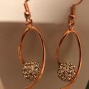 rosa gold fülbevaló, Ékszer, Fülbevaló, rose gold fülbevaló. hossza : 6 cm., Meska