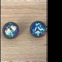 bedugós fülbevaló, Ékszer, Fülbevaló, Ékszerkészítés, Bedugó fülbevaló   cabochon Méret: 12 mm., Meska