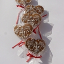 """Életfás """"páros szív"""",dupla esküvőre,,köszönet ajándék, Esküvő, Dekoráció, Esküvői dekoráció, 5 db!!! 9,5-10 cm x  8cm """"lapos"""",vagy hosszított formájú köszönő ajándék szív. Két-két keresztnévvel..., Meska"""