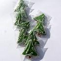 """""""Arany csüngővel""""karácsonyi """"mini"""" mézeskalácsfa,szóróajándékként,ajándék kiegészítőként csomagra stb., Dekoráció, Dísz, Ünnepi dekoráció, Karácsonyi, adventi apróságok, Mézeskalácssütés, Tartalma:  10db!!! kis méretű (4-4,5cm x4cm)mézeskalács karácsonyfa.Zöld színben,arany cukorkával,k..., Meska"""