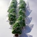 """""""Kiskedvenc"""" karácsonyfám ,Honey bread,gingerbread, Tartalma: 10db!!!  6,5X 5cm méretű világos zöl..."""