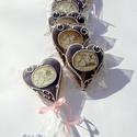 """""""Elsárgult"""" vintage mackó-kép, levendula lila keretben, Dekoráció, Ünnepi dekoráció, Dísz, Mézeskalácssütés, 5 db lila terülőmázas alapra,fehér keretben mackó+ csomagokkal ételfestékkel felrajzolt,felírat nél..., Meska"""