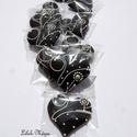 """""""Fekete-fehér,arany-ezüst""""elegáns mézeskalács szív,szóróajándéknak,ültetőnek, Dekoráció, Esküvő, Dísz, Ünnepi dekoráció, Mézeskalácssütés, ÁLTALÁBAN A TERMÉKEKET,RENDELÉS UTÁN KÉSZÍTEM EL!EZÉRT KÉRLEK,NAGYOBB MENNYISÉG ESETÉN,ELŐBB LEVÉLB..., Meska"""