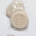 Vintage pasztell - csipke köszönőajándék ,esküvőre, Tartalma: 5db!!! 7,5-8 cm átmérőjű mézeskalá...