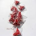 """Karácsonyi """"piros-mini"""" mézeskalácsfa,szóróajándékként,ajándék kiegészítőként csomagra stb., Dekoráció, Dísz, Ünnepi dekoráció, Karácsonyi, adventi apróságok, Mézeskalácssütés, Tartalma:  10db!!! kis méretű (4-4,5cm x4cm)mézeskalács karácsonyfa.Piros színben,különböző egyedi ..., Meska"""