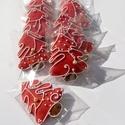 """Kiskarácsonyfa"", Tartalma: 10db!!!  6,5X 5cm méretű világos piro..."