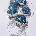 """""""Leveles-virágos"""" ültető,esküvőre, Esküvő, Esküvői dekoráció, Meghívó, ültetőkártya, köszönőajándék, Tartalma: 10db!!! 5,5 cm átmérőjű mézeskalács korong. --kék,piros,lila,pasztell színekben.... Bármil..., Meska"""