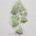 Karácsonyi mini mézeskalácsfa,szóróajándékként,ajándék kiegészítőként csomagra stb., Dekoráció, Karácsonyi, adventi apróságok, Dísz, Ünnepi dekoráció, Tartalma:  10db!!! kis méretű (4-4,5cm x4cm)mézeskalács karácsonyfa.Mentazöld (pasztell) színben,+1 ..., Meska