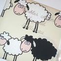 Új bárányos fotóalbum, Baba-mama-gyerek, Baba-mama kellék, Bárányos anyaggal borított bélelt fotósarkos fotóalbum szatén megkötővel.  NÉVFELIRATTAL IS KÉRHETŐ!..., Meska