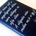 Valódi bőr napló idézettel, Naptár, képeslap, album, Magyar motívumokkal, Jegyzetfüzet, napló, Fotóalbum, Idézettel hímzett, valódi bőrrel borított bélelt napló.  Mérete 15,5X21,5cm és 250 oldalas.  A FELIR..., Meska