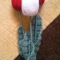 Horgolt tulipán, Otthon, lakberendezés, Dekoráció, Húsvéti apróságok, Ünnepi dekoráció, Horgolás, Aprólékos munkával,fonalból horgoltam ezeket a klasszikus tulipánokat.A szálak 39 cm,a tulipán feje..., Meska