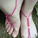 Pink lábékszer,bokalánc, Ékszer, óra, Bokalánc, Medál, Gyöngyfűzés, Pink színű tekla és kása gyöngyökből készült ez a lábékszer.Mérete szerint 36-38-as lábra. Ajánlom ..., Meska