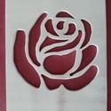 Rózsás kép, Dekoráció, 2 db rétegelt lemezből készült, a felsőn a képet lombfűrésszel vágtam, mérete 28,5cm * 21,..., Meska