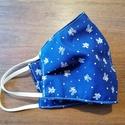 Szájmaszk- kékfestő mintás kék/vagy piros színben, Két réteg kiváló minőségű pamutból varrt s...