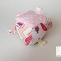 Piroska meséje- készségfejlesztő játékkocka kisbabáknak . :), Baba-mama-gyerek, Játék, Gyerekszoba, Készségfejlesztő játék, Varrás, Patchwork, foltvarrás, Pici babák számára készült puha játékkocka, amely megannyi színnel és élménnyel várja kis tulajdono..., Meska