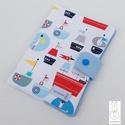 Egészségügyi kiskönyv borító - Tengeren, Baba-mama-gyerek, Táska, Baba-mama kellék, Pénztárca, tok, tárca, Varrás, Egészségügyi kis könyv borító designer textilből, aprótextil stílusban! A kis könyv borító legfonto..., Meska