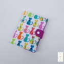 Egészségügyi kis könyv borító -cicák, Baba-mama-gyerek, Táska, Baba-mama kellék, Pénztárca, tok, tárca, Egészségügyi kis könyv borító designer textilből, aprótextil stílusban! *****Dupla béléssel *****  A..., Meska