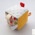Baglyok- Készségfejlesztő játékkocka kisbabáknak . :), Baba-mama-gyerek, Játék, Gyerekszoba, Készségfejlesztő játék, Pici babák számára készült puha játékkocka, amely megannyi színnel és élménnyel várja kis tulajdonos..., Meska