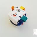 Tengeren- készségfejlesztő játékkocka kisbabáknak . :), Baba-mama-gyerek, Játék, Gyerekszoba, Készségfejlesztő játék, Pici babák számára készült puha játékkocka, amely megannyi színnel és élménnyel várja kis tulajdonos..., Meska