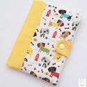 Egészségügyi kis könyv borító-kutyusok vidám színekben- Rendelhető, Baba-mama-gyerek, Táska, Baba-mama kellék, Pénztárca, tok, tárca, Egészségügyi kis könyv borító designer textilből, aprótextil stílusban! Duplán bélelt kivitel!  A ki..., Meska