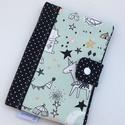 """Egészségügyi kis könyv borító - barack színű textillel készítve, Gyerek & játék, Táska, Divat & Szépség, Baba-mama kellék, Táska, Pénztárca, tok, tárca, """"Egészségügyi kis könyv borító designer textilből, aprótextil stílusban! DUPLÁN BÉLELT kivitel!  A k..., Meska"""