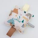 Erdő lakói- Készségfejlesztő játék kisbabáknak, csörgővel . :), Baba-mama-gyerek, Játék, Gyerekszoba, Készségfejlesztő játék, Pici babák számára készült puha játék öko-tex szalagokkal, halk csörgővel, natúr színű ..., Meska