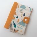 Egészségügyi kis könyv borító - erdő lakói babaváró szett. , Egészségügyi kis könyv borító designer texti...