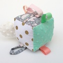 Édes álom- készségfejlesztő játékkocka kisbabáknak . :), Baba-mama-gyerek, Játék, Gyerekszoba, Készségfejlesztő játék, Pici babák számára készült puha játékkocka, amely megannyi színnel és élménnyel várja kis tulajdonos..., Meska