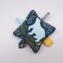 Jegesmaci- Készségfejlesztő játék kisbabáknak, csörgővel . :), Pici babák számára készült puha játék öko-...