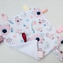 Madárka-alvókendő, játszókendő kisbabáknak!  , Baba-mama-gyerek, Játék, Baba-mama kellék, Készségfejlesztő játék, Minőségi, designer pamutvászonból készített alvókendő, címkékkel. Kérheted minky dot (képen látható)..., Meska