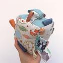Erdő lakói-Készségfejlesztő játékkocka kisbabáknak . :), Pici babák számára készült puha játékkocka,...