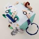 Erdei állatok 2- készségfejlesztő játékkocka kisbabáknak . :), Pici babák számára készült puha játékkocka,...