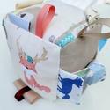 Erdő lakói- készségfejlesztő játékkocka kisbabáknak . :), Pici babák számára készült puha játékkocka,...