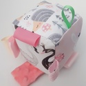 Sünik-Készségfejlesztő játékkocka kisbabáknak . :), Pici babák számára készült puha játékkocka,...