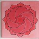 Mandala festmény 3, Képzőművészet, Dekoráció, Festmény, Kép, Gyökércsakra (alapcsakra) mandala  Feszített vászonra készült akvarell festmény, a mandala ak..., Meska