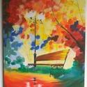 Festmény Afremov nyomán, Dekoráció, Képzőművészet, Festmény, Akril, Festészet, Nagy méretű, 50x70 cm-es feszített vászonra készült akril festmény. Afremov festménye nyomán, saját..., Meska