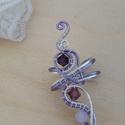 Tünde hercegnő fülgyűrű, Fantasy fülgyűrű ékszerdrótból tekergetve é...