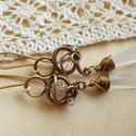 Kristály tenger - sárgaréz fülbevaló, Ékszer, Esküvő, Fülbevaló, Esküvői ékszer, Sárgaréz drótból és átlátszó, csiszolt üveggyöngyből, swarovskiból készült fülbevaló. Tökéletes éksz..., Meska
