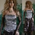 """""""Csilivili"""" báli design-ruha, Rövid báli-ruha rátétes-fűzővel, sok-sok fod..."""
