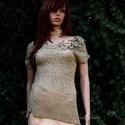 Antikolt  csipkeblúz , Gyönyörű, selyemszálas sűrű-mintás antik kl...