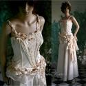 ROZETTA - menyasszonyi vagy estélyiruha, Ruha, divat, cipő, Esküvő, Esküvői ruha, Menyasszonyi ruha, Látványos két részes ruha válogatott pezsgő színű anyagokból.  Az enyhén elasztikus, könnyű kidolgoz..., Meska