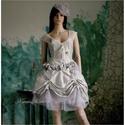 HILARY - rokokó menyasszony, Esküvő, Ruha, divat, cipő, Menyasszonyi ruha, Esküvői ruha, Varrás, Alternatív menyasszonyi- vagy báli ruha is lehet ez a dúsan díszített hernyóselyemből készült tüllö..., Meska