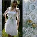KIM -  menyasszonyi ruha, Esküvő, Ruha, divat, cipő, Esküvői ruha, Menyasszonyi ruha, A rövid ruha fiatalos báját ötvöztem a csipkés romantika hangulatával ebben a kétrészes modern  meny..., Meska
