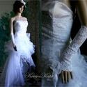 GILIAN - menyasszonyi ruha, Esküvő, Ruha, divat, cipő, Esküvői ruha, Menyasszonyi ruha, Látványos, hófehér menyasszonyi ruha. Bár a tüllök és az organza miatt terjedelmesnek látszik mégis ..., Meska