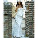 POLONIA - menyasszonyi kosztüm, Esküvő, Ruha, divat, cipő, Menyasszonyi ruha, Esküvői ruha, Jó tartású szalagos taftból készítettem ezt az egyszerű, csupa-ív alternatív menyasszonyi kosztümöm...., Meska
