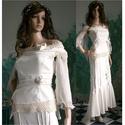 PANNA - téli esküvői kosztüm, Esküvő, Ruha, divat, cipő, Menyasszonyi ruha, Esküvői ruha, Elasztikus, matt felületű, belül bolyhos anyagból készítettem ezt az alternatív menyasszonyi ruhámat..., Meska