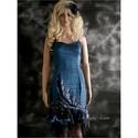 MARICA kék - bohém, elegáns koktékruha, Különleges koktélruha azoknak a nőknek, akik s...