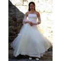 ANGELA - menyasszonyi ruha, Esküvő, Ruha, divat, cipő, Menyasszonyi ruha, Esküvői ruha, Alternatív menyasszonyi ruha Grace Kelly-stílusban több rétegű fátyoltüll fedésű tüllszoknyával. A t..., Meska